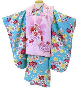 【レンタル】【往復送料無料】【七五三レンタル】 3歳の女の子 被布セットレンタル・006 貸衣装 三歳 3才 753 女児