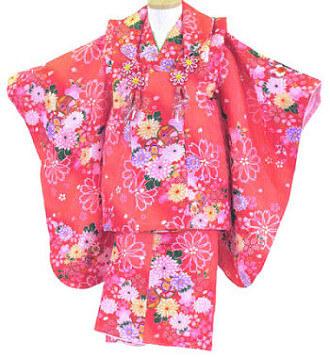 【レンタル】【往復送料無料】【七五三レンタル】 3歳の女の子 被布セットレンタル・031 貸衣装 三歳 3才 753 女児