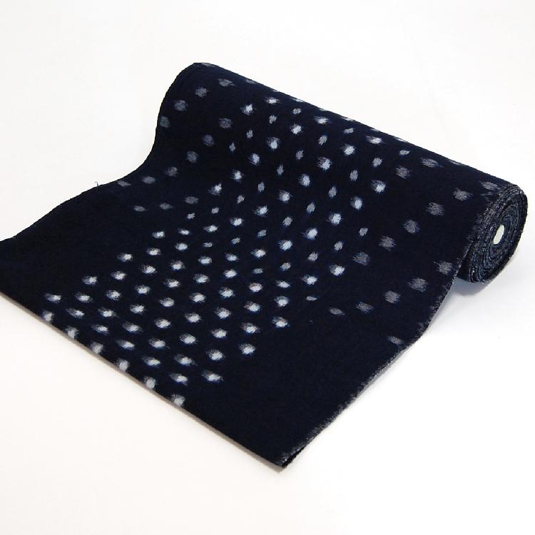 着物仕立て 備後絣の仕立て(反物代/水通し代込み) ハイテクミシン仕立て/手縫い仕立て/(単衣) 誂え 昇り水玉白(NO.01)