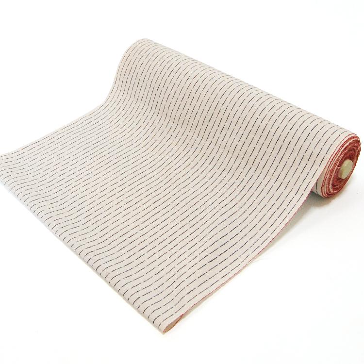 着物仕立て 備後絣の仕立て(反物代/水通し代込み) ハイテクミシン仕立て/手縫い仕立て/(単衣) 誂え 雨縦縞白灰(NO.36)
