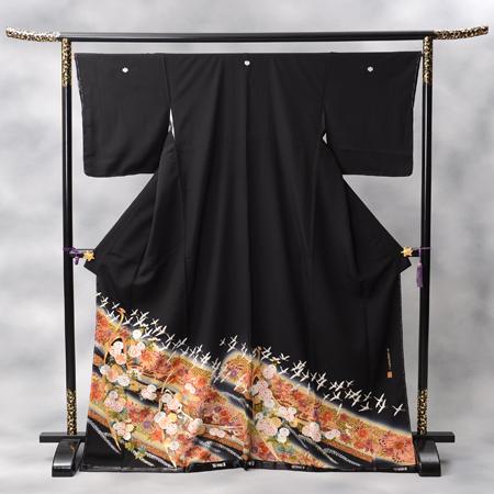 黒留袖 レンタル kansai-10 【往復送料無料】 留袖レンタル 留袖 レンタル 黒留袖レンタル フルセット 留袖 セット 黒留袖 セット 和服 着物 貸衣装