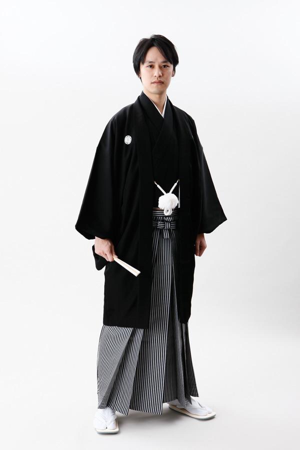 【レンタル】 【mens-hakama-1】【男性袴】【結婚式】男性袴フルセットレンタル【LLサイズ】【smtb-k】【ky】