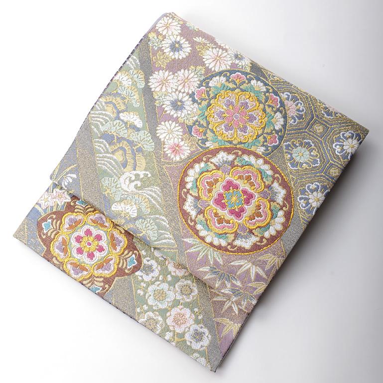 【レンタル】 【レンタル】桂由美 袋帯 落ち着いたタイプ yk-obi-2503