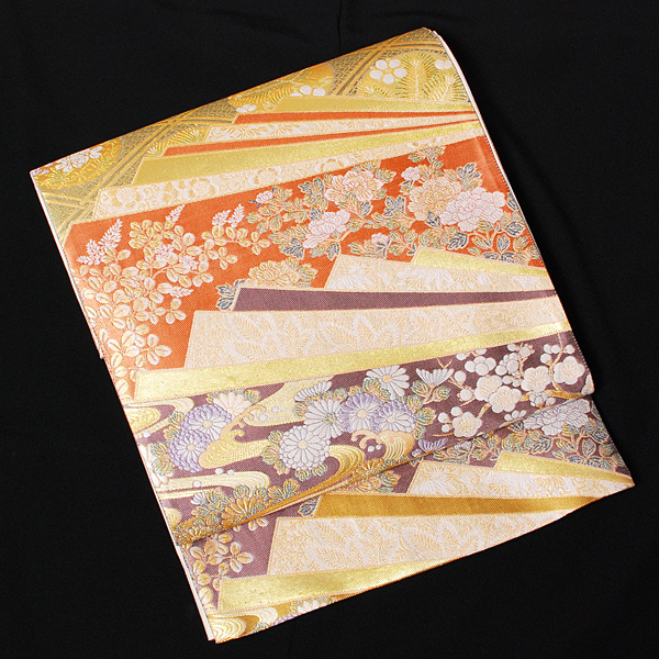 【レンタル】 【obi-23-58】厳選高級袋帯レンタル・西陣織【送料無料】【smtb-k】【ky】
