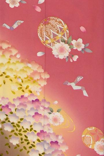 駆け込みOK振袖 レンタル 草履 半衿 髪飾り 帯締め 長襦袢ピンク 黄色 イエロー 花 花柄 桜 手毬 結び文2DI9H2E