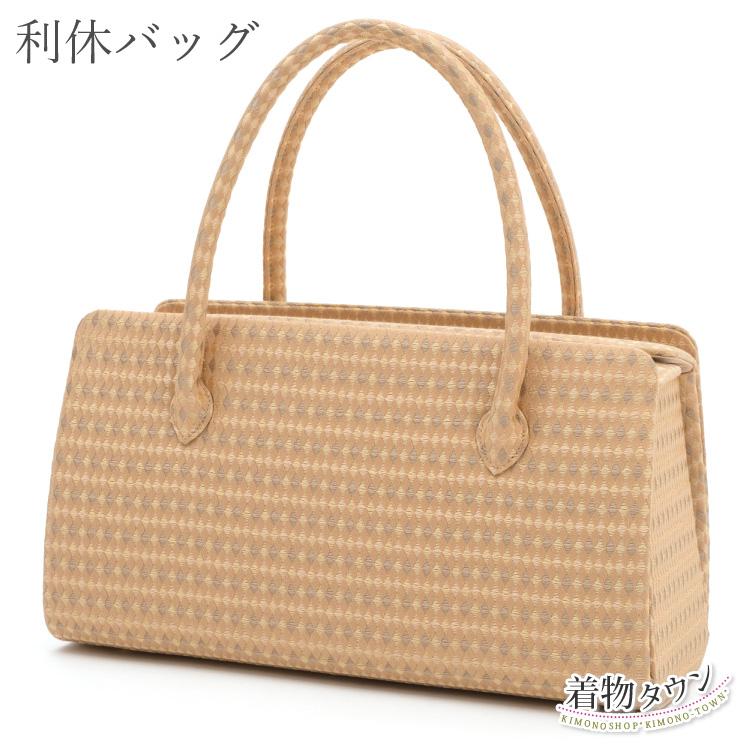和装バッグ 利休バッグ 正絹 和座一色 フリーサイズ レディース 帯地使用 着物バッグ 和装バッグ 和装小物 着物 小物 日本製 【送料無料】 bag-00013