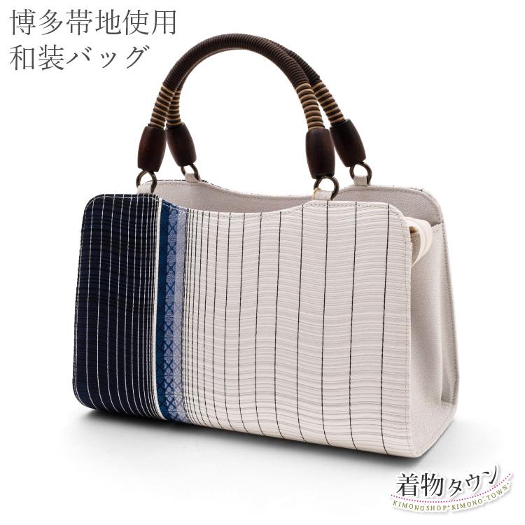 和装バッグ 利休バッグ 正絹 和座一色 グレー フリーサイズ レディース 帯地使用 着物バッグ 和装バッグ 和装小物 小物 日本製 送料無料 bag-00017