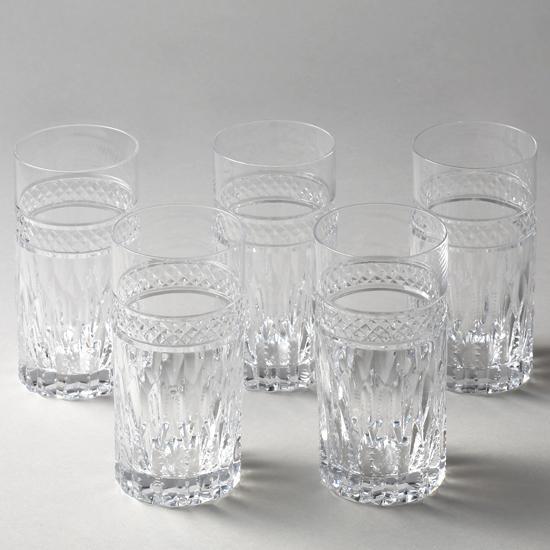 【送料無料】【お買い得】タンブラーセット5個組み【チェコ製】【クリスタルガラス】【ハンドカット】