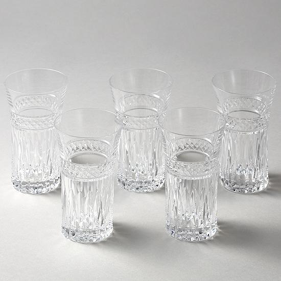 【送料無料】【お買い得】一口ビールセット5個組み【チェコ製】【クリスタルガラス】【ハンドカット】