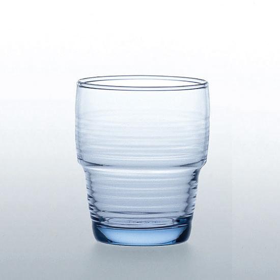 【業務用】《日本製》スタックタンブラー ブルー(240ml) 96個セット【HS】【強化グラス】