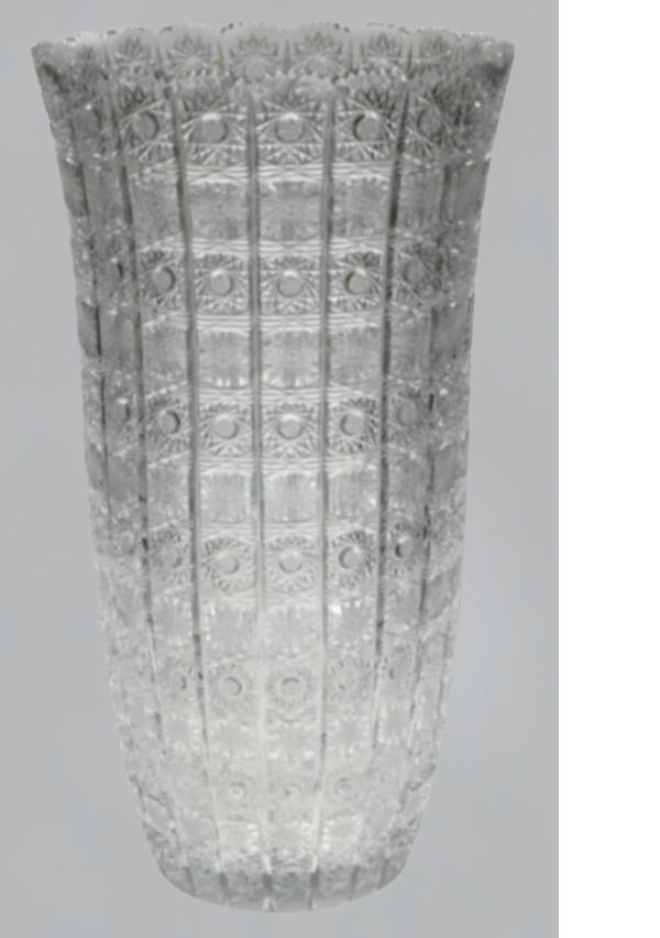 【送料無料】ボヘミアクリスタル 花瓶 50CM