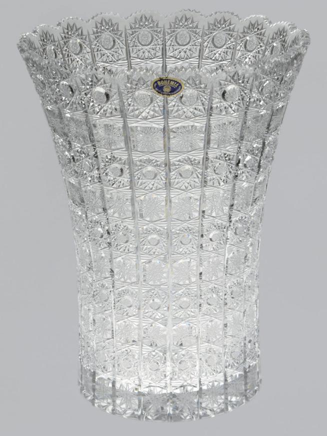 【送料無料】ボヘミアクリスタル 花瓶 35CM