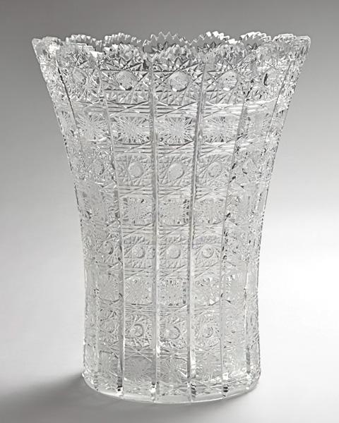 《チェコ製》《クリスタル硝子》花器【贈答】【贈り物】【花瓶】