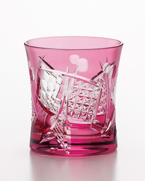 《日本製》八千代切子 タンブラー(小槌柄)(280ml)【焼酎グラス】【ロックグラス】