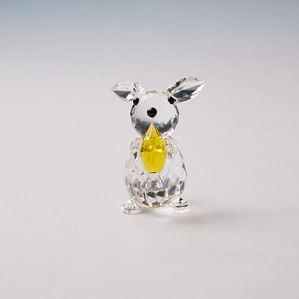 ◆在庫限り◆ノブレスクリスタル社製 オーナメント ウサギS【ガラス置物】【Noblesse crystal】