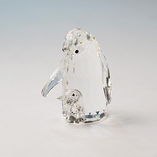 ◆在庫限り◆ノブレスクリスタル社製 オーナメント ペンギン親子【ガラス置物】【Noblesse crystal】