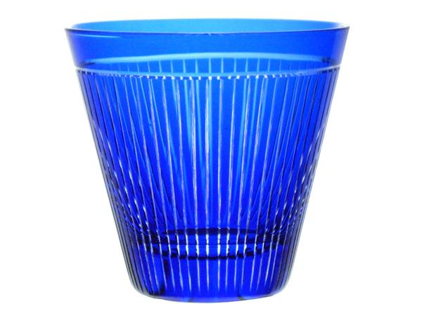 ≪伝統の江戸切子≫  掌-tanagokoro- オールド瑠璃 【えどきりこ】【オンザロックグラス】