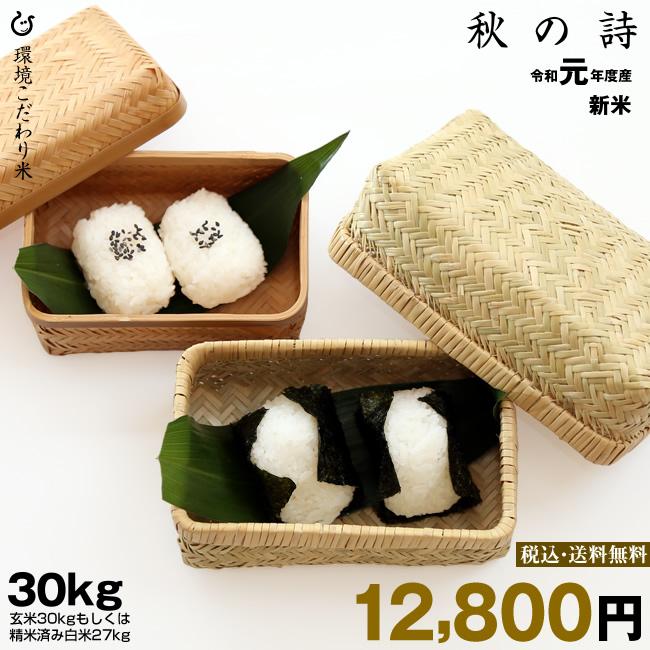 秋の詩 環境こだわり米 精米済み白米27kg 【令和元年:滋賀県産】