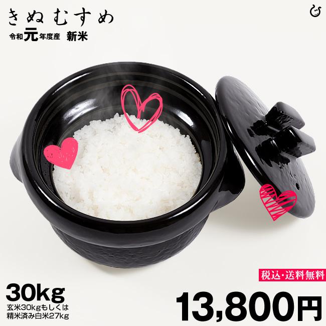 きぬむすめ 環境こだわり米 精米済み白米27kg【令和元年:滋賀県産】