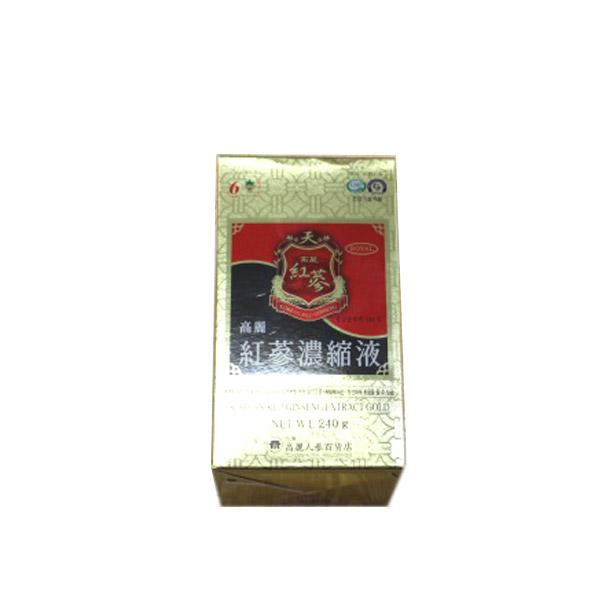 【送料無料(北海道、東北、沖縄、離島は別途送料)】【韓国直輸入!】6年根 高麗紅参 濃縮液(KOREAN RED GINSENG EXTRACT GOLD) 240g