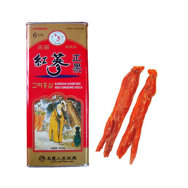 【送料無料(一部地域除く)】6年根高麗紅参を使用した高麗紅参正果GOLD(はちみつ漬け) 300g