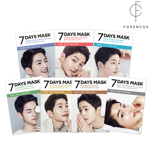【送料無料】韓国コスメ★FORENCOS ソンジュンギ マスク パック セブンデイズ マスク 7セット(7DAYS MASK)