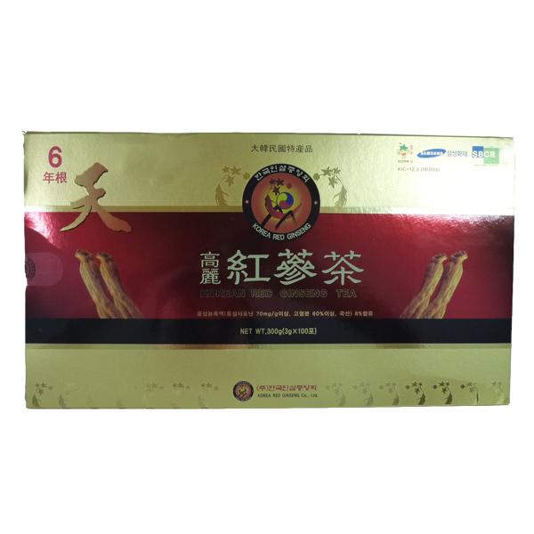 【送料無料!】『韓国直輸入!高麗人参高級紅参使用!』韓国伝統茶!健康維持に毎日1杯!!高麗紅参茶(3g×100包×10個)【marathon201305_health】