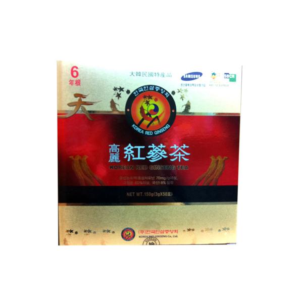 【さらに送料無料!】『韓国直輸入!高麗人参高級紅参使用!』韓国伝統茶!健康維持に毎日1杯!!高麗紅参茶(3g×50包×10個)