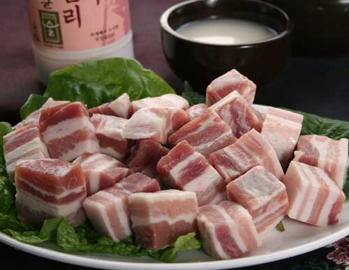 Diced pork belly! 500 g × 3 in 1980 yen discount! [Korea ingredients]