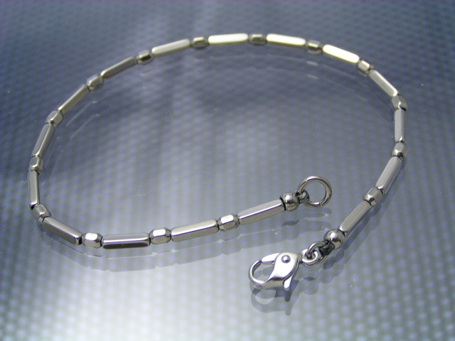 Square magic /T11 type titanium bracelet /