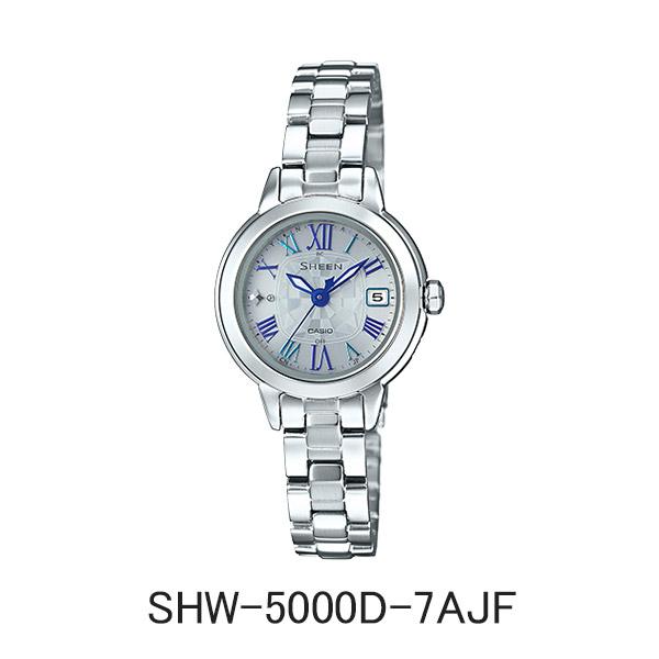 カシオ腕時計 SHW-5000D-7AJFSHEEN シーン ソーラー電波時計メーカー1年保証 正規品 CASIO SHEEN【送料無料】