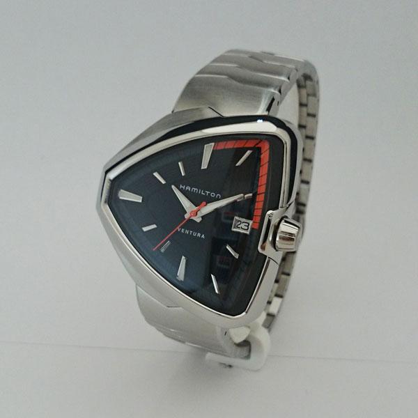 正規品 ハミルトン腕時計 H24551131 ベンチュラ エルヴィス80黒文字盤/ステンレススチールブレスレットメーカー2年保証 HAMILTON Ventura Elvis80【送料無料】
