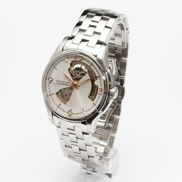 ハミルトン腕時計 H32565155/ジャズマスター オープンハート ジェンツ(機械式自動巻き)銀色文字盤/ブレスレット/2年保証 HAMILTON Jazzmaster Open Heart Gents【送料無料】【プレゼント対象】