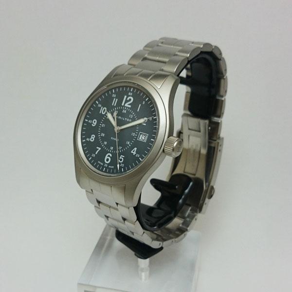 ハミルトン腕時計 H68201143/カーキフィールドクォーツ(電池式)青文字盤/ステンレススチールブレスレット/2年保証 HAMILTON Khaki Field Quartz【送料無料】【プレゼント対象】