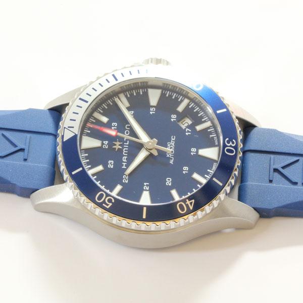 ハミルトン腕時計 H82345341/カーキ ネイビー スキューバ オート(機械式自動巻き)青色文字盤/青色ラバーストラップ2年保証 HAMILTON Khaki Navy SCUBA AUTO【送料無料】【プレゼント対象】