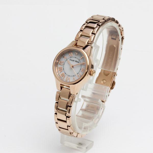 ジュリエットローズ腕時計・JUL301PG-01M・レディスウッチ(ソーラーモデル)/ピンクゴールド色ケース/白文字盤/ブレスレットメーカー1年保証/JULIET ROSE プレゼントにも最適