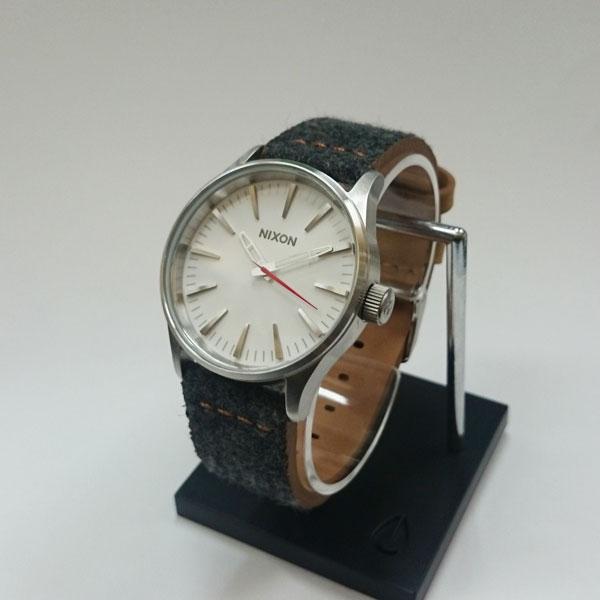 正規品 ニクソン腕時計 NA3772476-00Sentry 38 Leather(セントリー38レザー)Gray/Tan(ユニセックス)NA3772476-00/メーカー2年保証 NIXON 腕時計