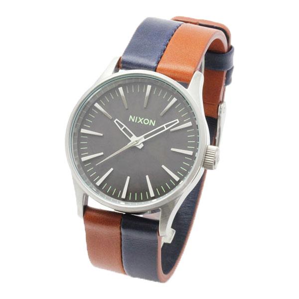 正規品 ニクソン腕時計 Sentry 38 Leather/Dark Copper Navy Saddle(ユニセックス)/NA3771957-00メーカー2年保証 NIXON 腕時計