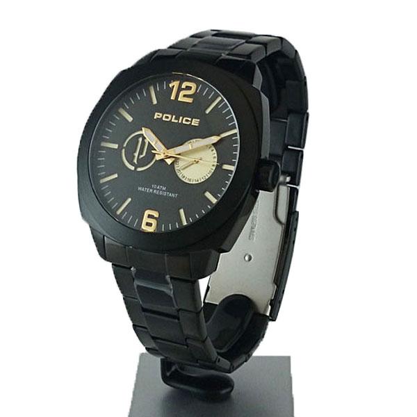正規品 ポリス腕時計 14717JSB-02Mコンテキスト(メンズ)黒文字盤/ブレスレットメーカー2年保証 ポリス腕時計 POLICE CONTEXT