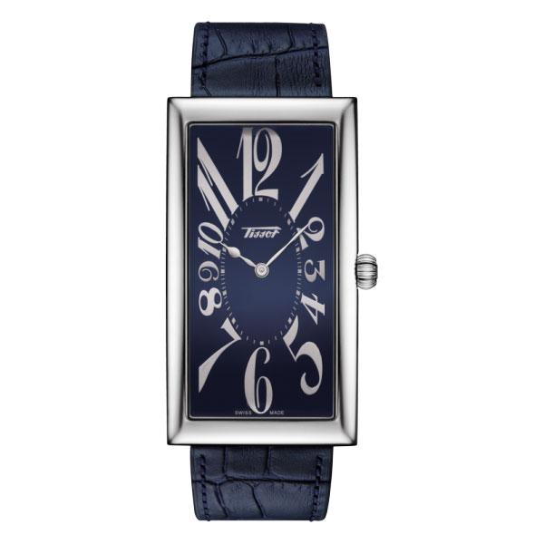 1916年に誕生し バナナ ウォッチ の呼称で愛される TISSOTを代表するアイコニックモデル 爆売り (訳ありセール 格安) 正規品 ティソ腕時計 T117.509.16.042.00ティソ 送料無料 メーカー2年保証 クォーツモデル 紺色カーフストラップ 日本スペシャルモデル紺色文字盤 TISSOT-T1175091604200 センテナリー ヘリテージ