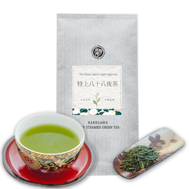 新茶 掛川茶 百貨店 深蒸し茶 掛川深蒸し茶 贈与 深蒸し掛川茶 茶和家 特上八十八夜新茶 緑茶 100g お茶