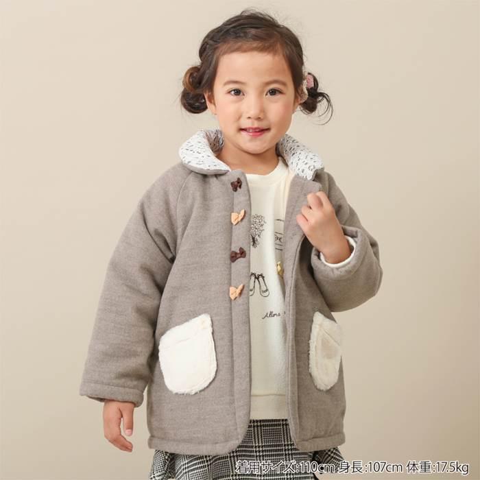 Biquette(ビケット)コート(80〜130cm)女の子冬物80cm90cm95cm100cm110cm120cm130cmキムラタンの子供服