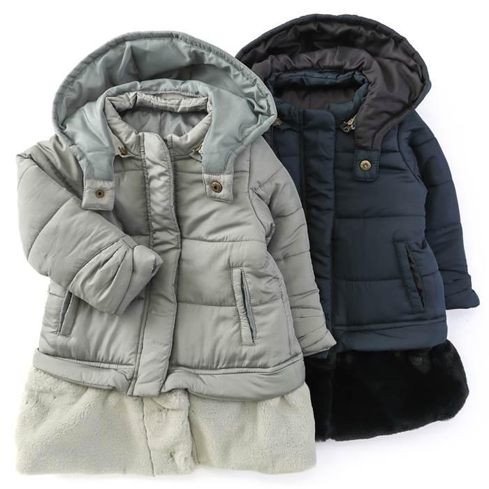 2196d2f2410e1 dolcina(ドルチーナ)2WAY中綿入りコート(90~140cm)女の子冬物90cm95cm100cm110cm120cm130cm140cm