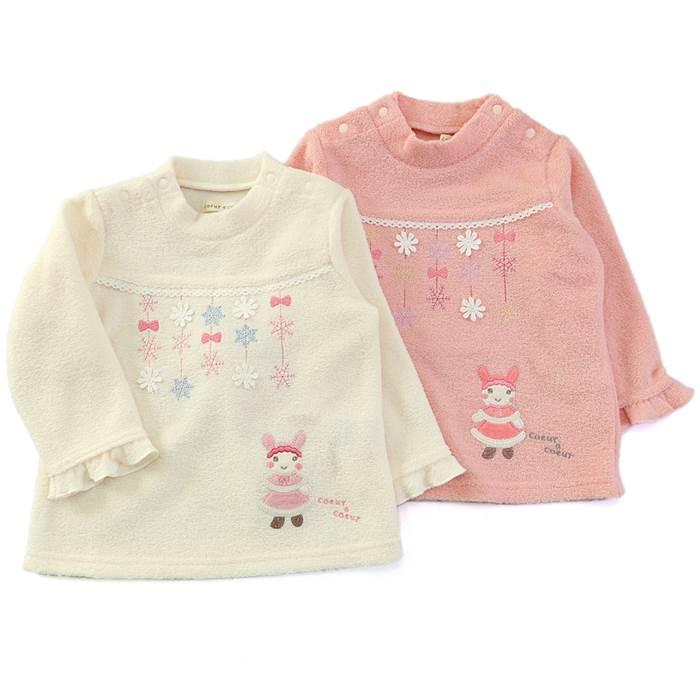 a330af44d1181 coeuracoeur(クーラクール)ハイネックTシャツ(70~100cm)女の子冬物70cm80cm90cm95cm100cm