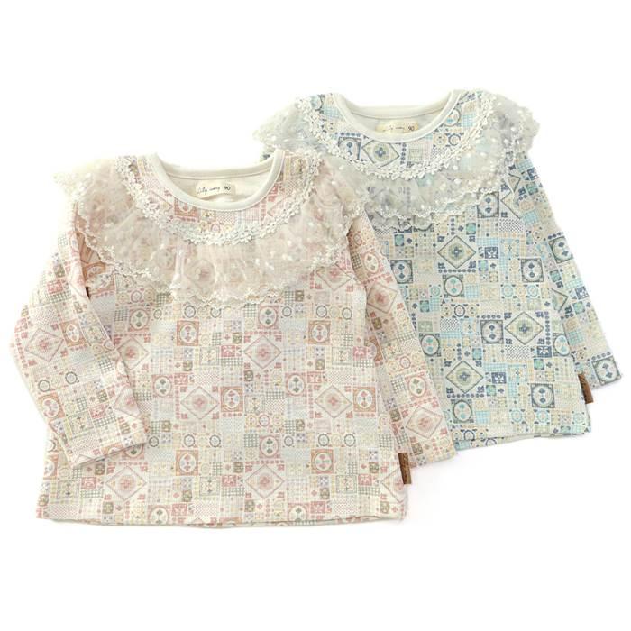 7de72b354664c Lilyivory(リリーアイボリー)長袖Tシャツ(80~130cm)女の子冬物80cm90cm95cm100cm110cm120cm130cm