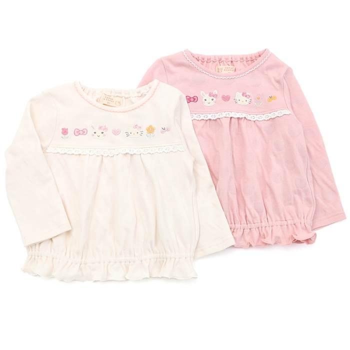 c4b991265feee coeuracoeur(クーラクール)長袖Tシャツ(80~110cm)女の子春物80cm90cm95cm100cm110cm