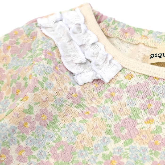 Biquette(ビケット)長袖Tシャツ(80〜130cm)女の子春物80cm90cm95cm100cm110cm120cm130cmキムラタンの子供服