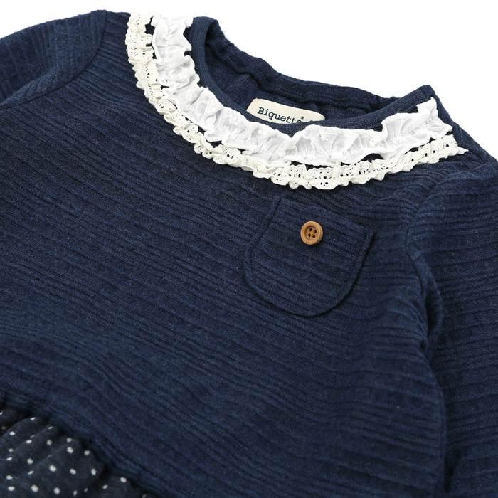 Biquette(ビケット)ワンピース(80〜130cm)女の子春物80cm90cm95cm100cm110cm120cm130cmキムラタンの子供服