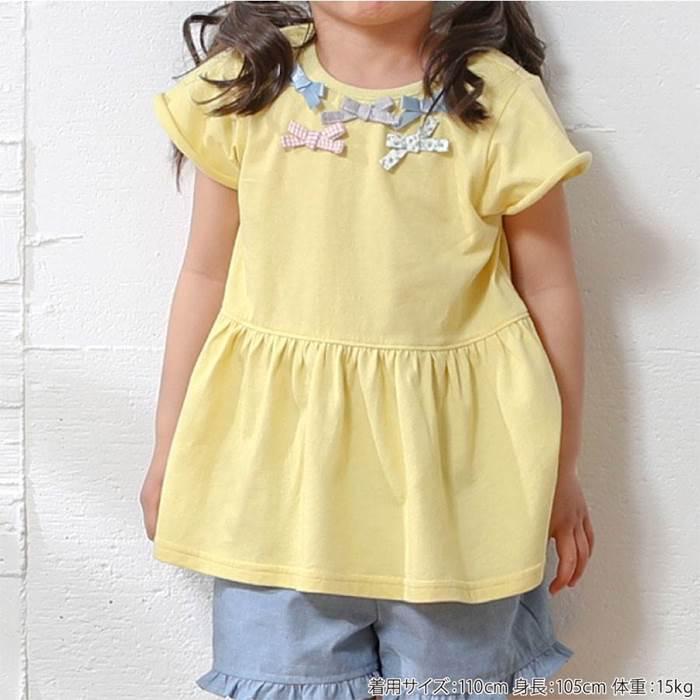 Biquette(ビケット)半袖Tシャツ(80〜130cm)女の子初夏物80cm90cm95cm100cm110cm120cm130cmキムラタン子供服あす楽