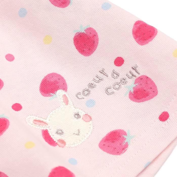 coeuracoeur(クーラクール)半袖Tシャツ(70〜100cm)女の子初夏物70cm80cm90cm95cm100cmキムラタンの子供服